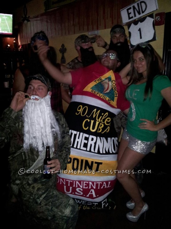 Original Homemade Southernmost Point and Mile Zero Couple Halloween Costumes - 7