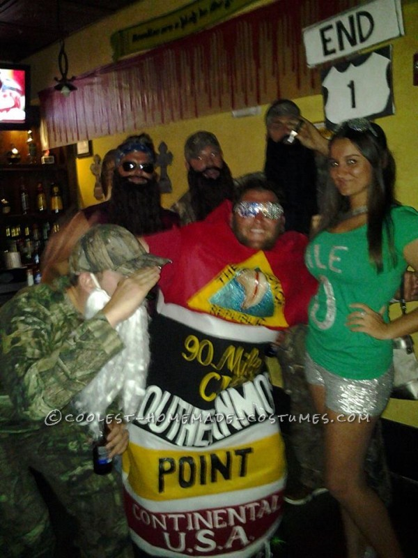 Original Homemade Southernmost Point and Mile Zero Couple Halloween Costumes - 5