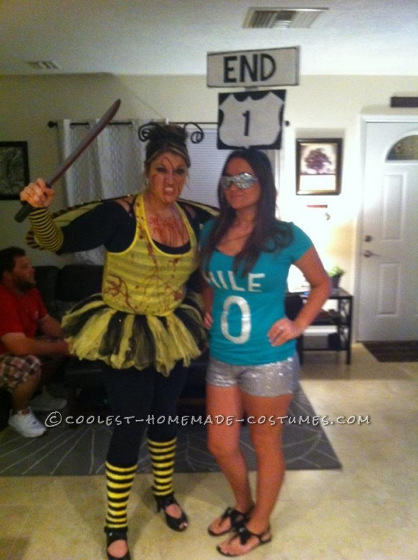Original Homemade Southernmost Point and Mile Zero Couple Halloween Costumes - 3