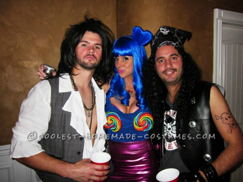 For Katy Perry: I started off with the most important and noticeable part of the costume, the Lollipops! I know most people know of the cupcake bra f
