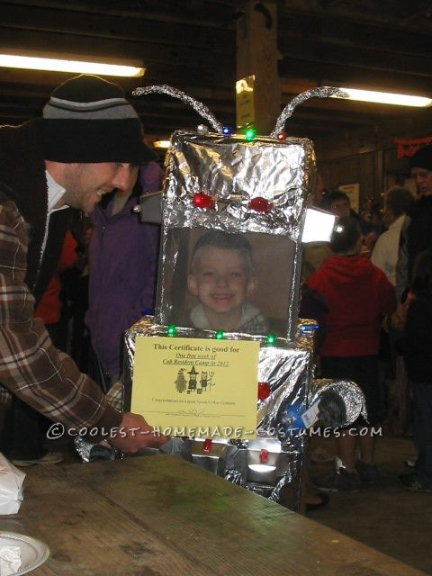 Winning first place in the costume contest