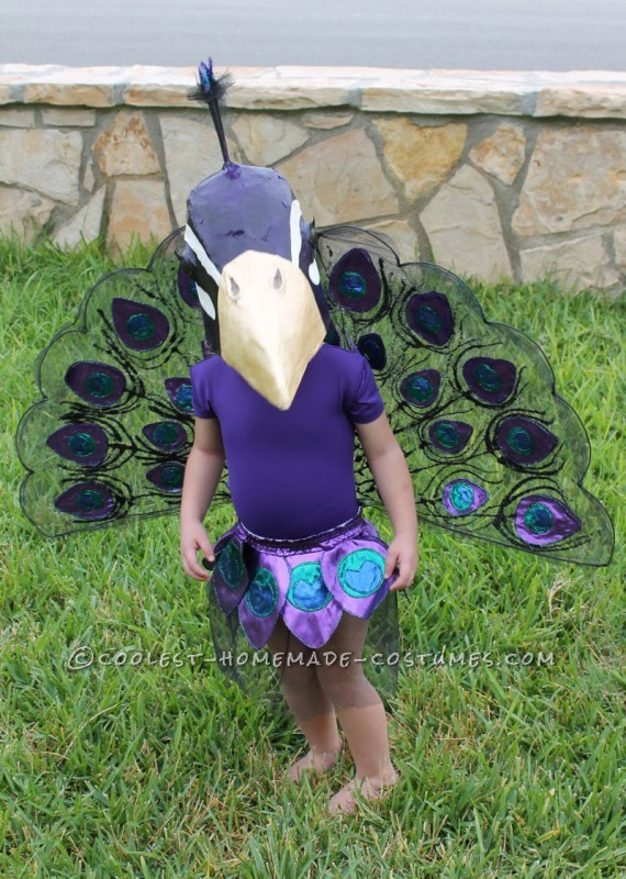A Very Original Homemade Peacock Costume
