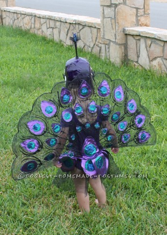 This toddler peacock costume is honestly very time consuming and has many tedious steps, but will be beautiful and well worth the time once completed