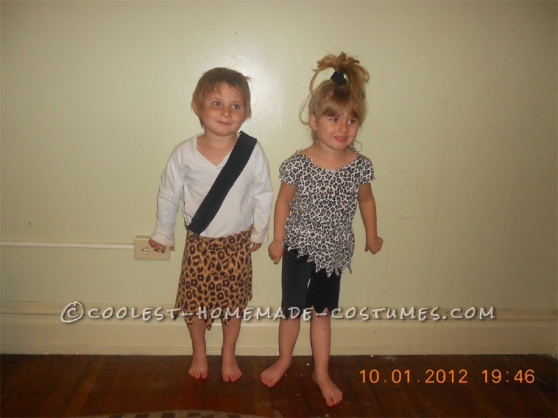 Coolest Pebbles and Bamm Bamm Homemade Halloween Costumes