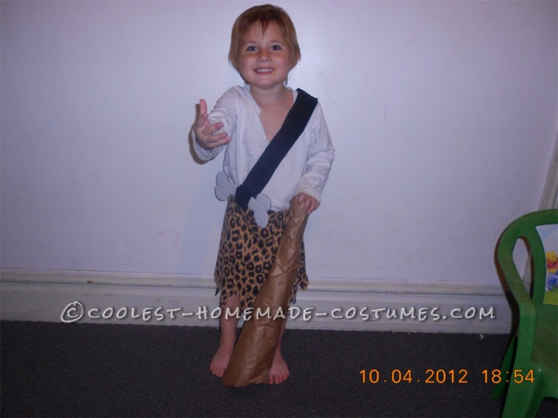 Coolest Pebbles and Bamm Bamm Homemade Halloween Costumes - 1