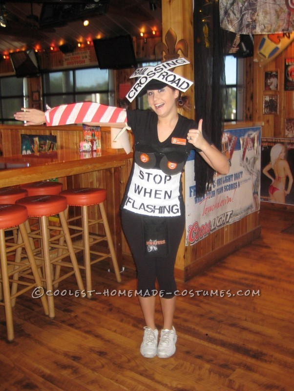 This was my favorite Halloween costume I have ever done. I work at Hooters and all the girls always wear skimpy outfits so I wanted to change it up a