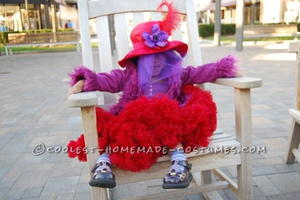 Coolest Red Hat Lady Costume for a Little Girl