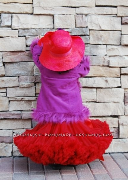 Coolest Red Hat Lady Costume for a Little Girl - 1