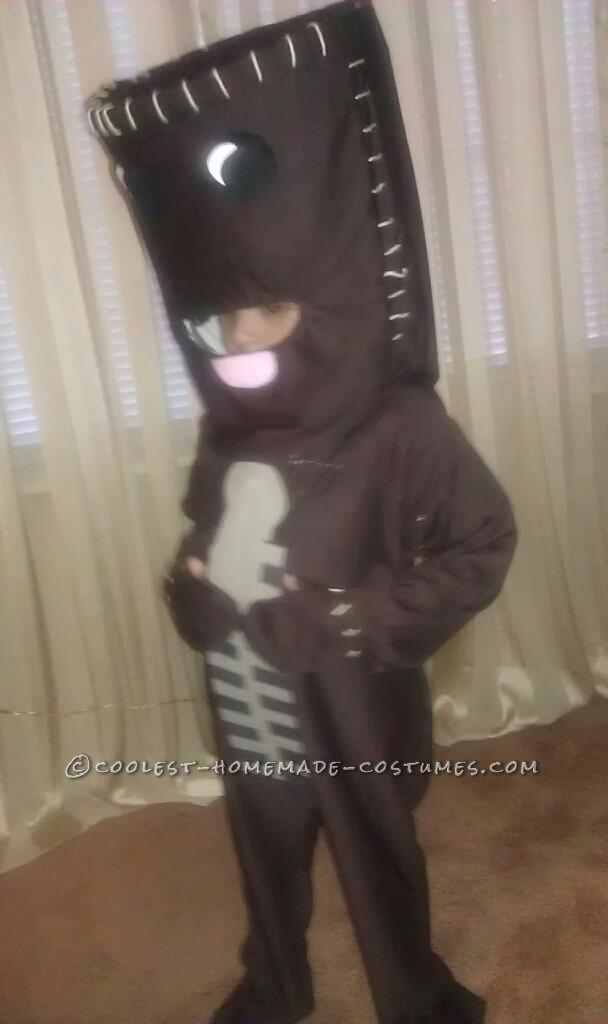 My son's favorite video game is little big planet so he decided he wanted to be Sackboy for halloween. There are NO commercial Sackboy costumes on t