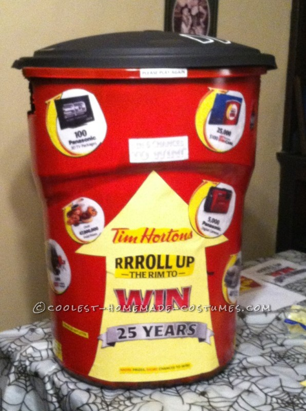 Coolest Tim Horton's Roll Up the Rim Coffee Cup Costume - 1