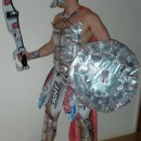 I am wearing this costume in both pictures. The idea came to me after I watched the movie 300. I was enjoying a mid-day beer (Coors Light is my favor