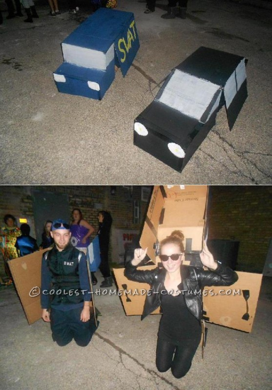 Last Halloween my boyfriend and I decided to go as cops and robbers for halloween, but with a twist! Instead of normal cops and robbers, we were tran