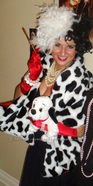 Easy Cruella De Vil Homemade Halloween Costume