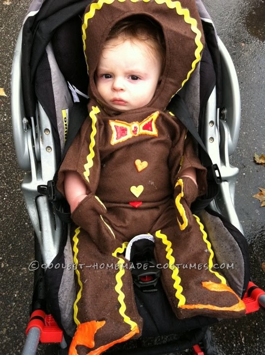 In his car seat at the Halloween parade