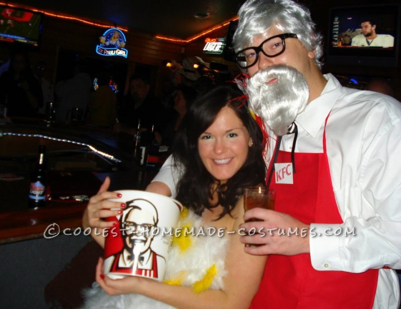 Cutest Couple Costume: Colonel Sanders and his Favorite Chicken - 1
