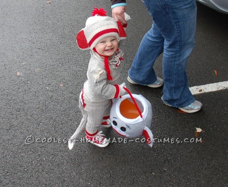 "Cutest Sock ""Hop"" Monkey Halloween Costume - 1"
