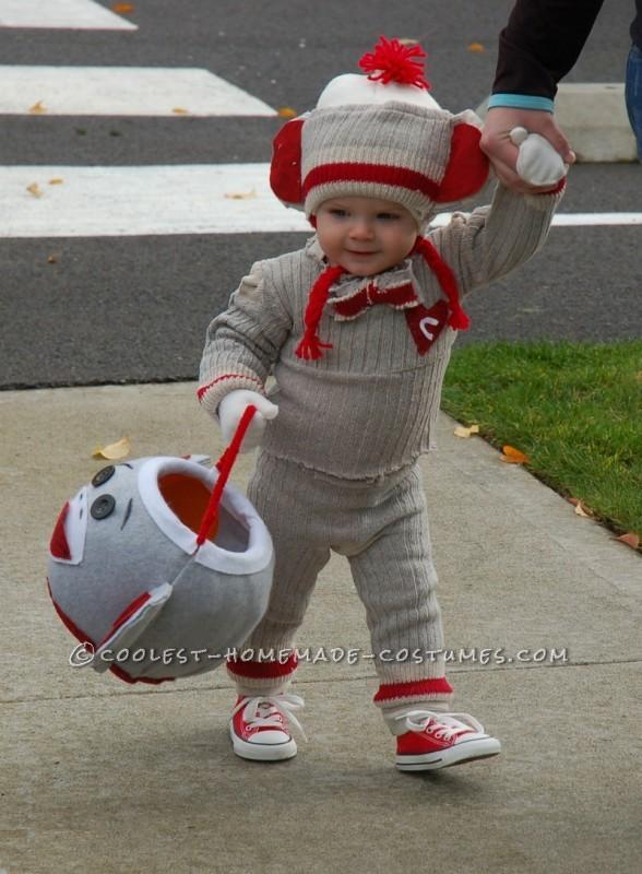 "Cutest Sock ""Hop"" Monkey Halloween Costume - 2"
