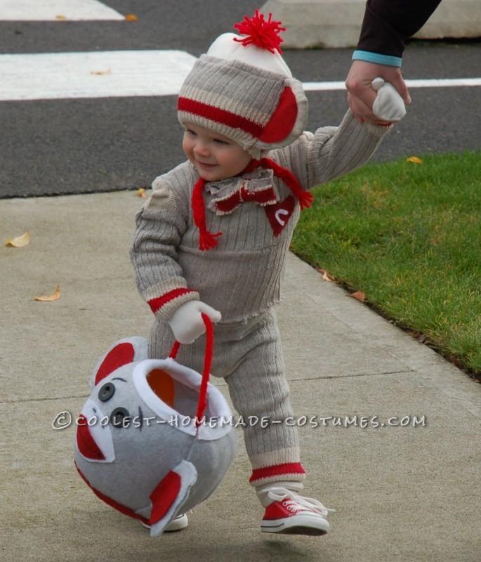 "Cutest Sock ""Hop"" Monkey Halloween Costume - 3"
