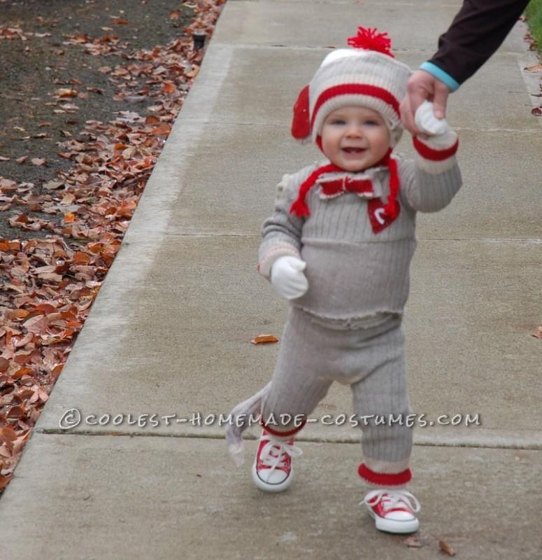 "Cutest Sock ""Hop"" Monkey Halloween Costume - 4"