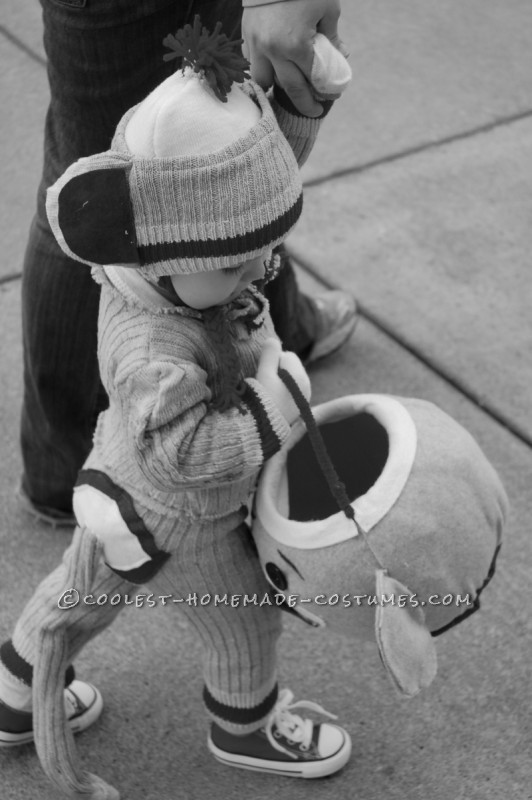 "Cutest Sock ""Hop"" Monkey Halloween Costume - 6"