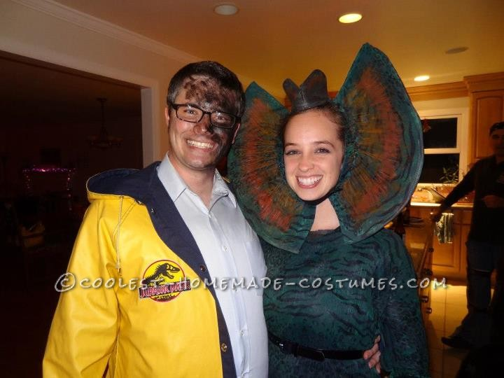Coolest Homemade Couple Costume Dennis Nedry And Dilophosaurus From