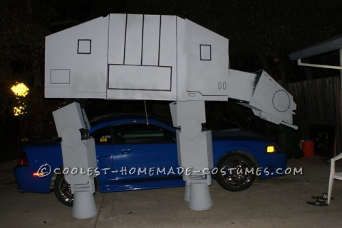 Detailed Star Wars AT-AT Imperial Walker Homemade Costume