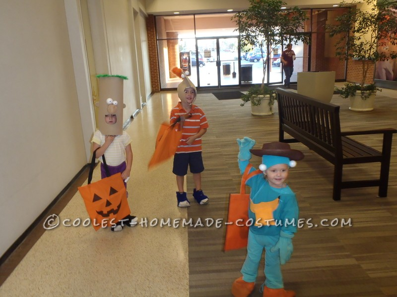 Awesome Family Costume: Phineas, Ferb, Agent P. and Dr. Doofenshmirtz - 1
