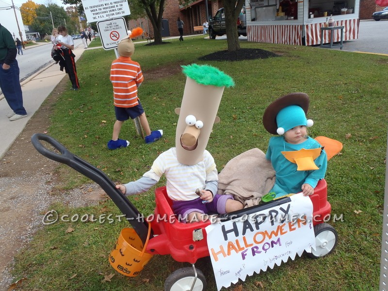 Awesome Family Costume: Phineas, Ferb, Agent P. and Dr. Doofenshmirtz - 5
