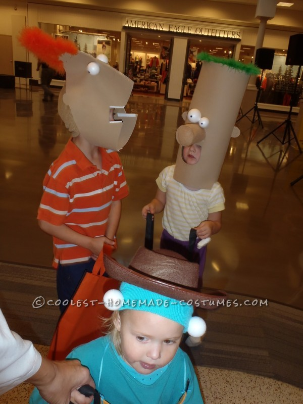 Awesome Family Costume: Phineas, Ferb, Agent P. and Dr. Doofenshmirtz - 6