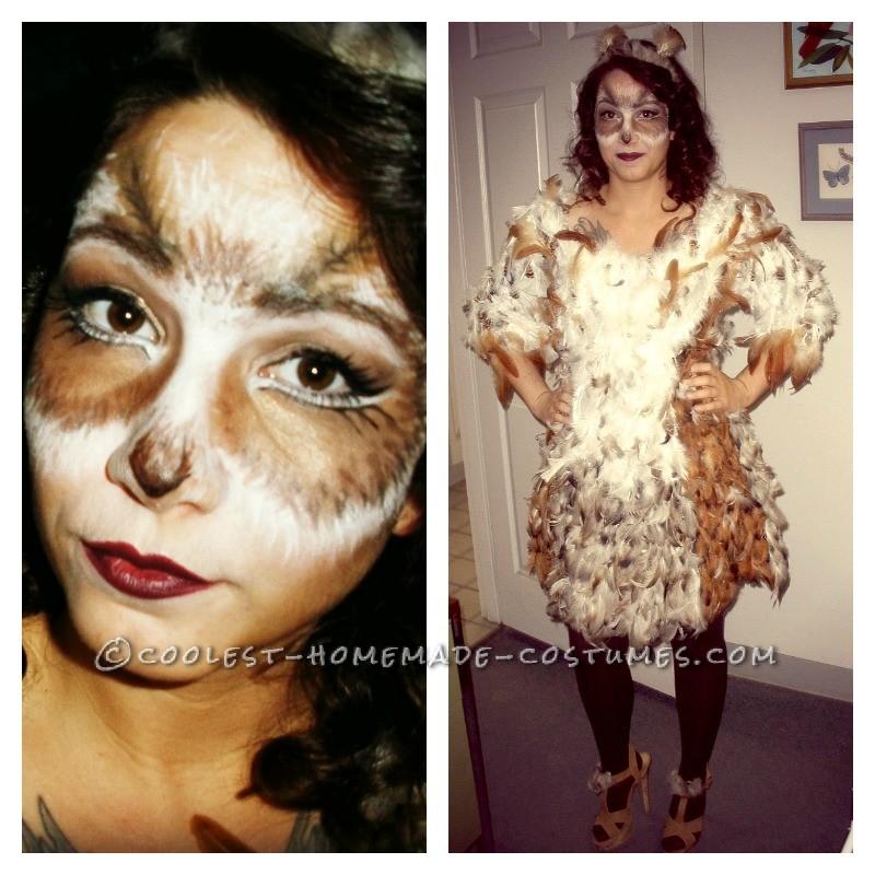 Original DIY Owl Costume and Makeup