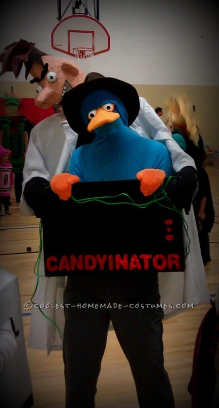 Agent P trapped in the Candyinator