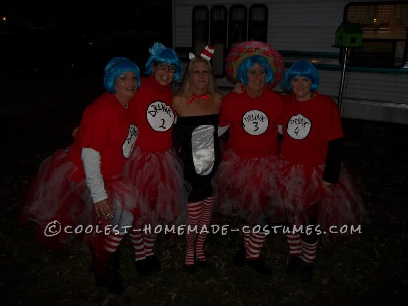 Drunk Things and Sexy Cat in the Hat Group Costume - 2