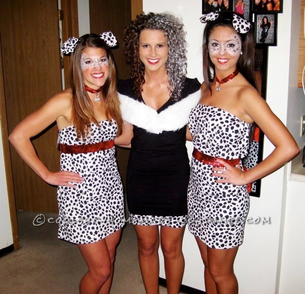 Easy 101 Dalmatians and Cruella De Vil Homemade Halloween Costume