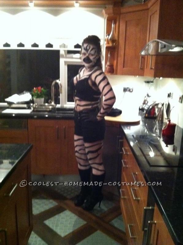Easy Homemade Zebra Costume - 2