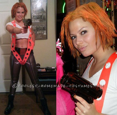 This was my all-time favorite DIY Halloween costume I've made by far~ Leeloo from the 5th Element~ that I did 2 years ago, that people still ta