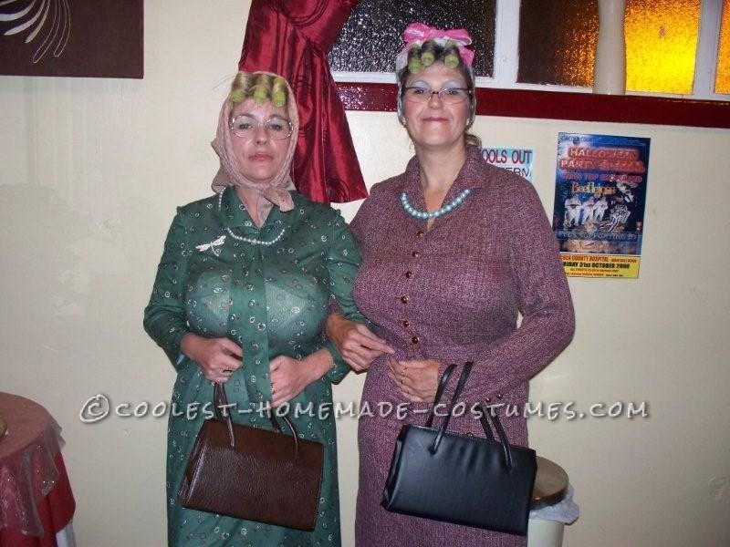Edna & Mavis. Qurkie take on the 70s Fancy dress