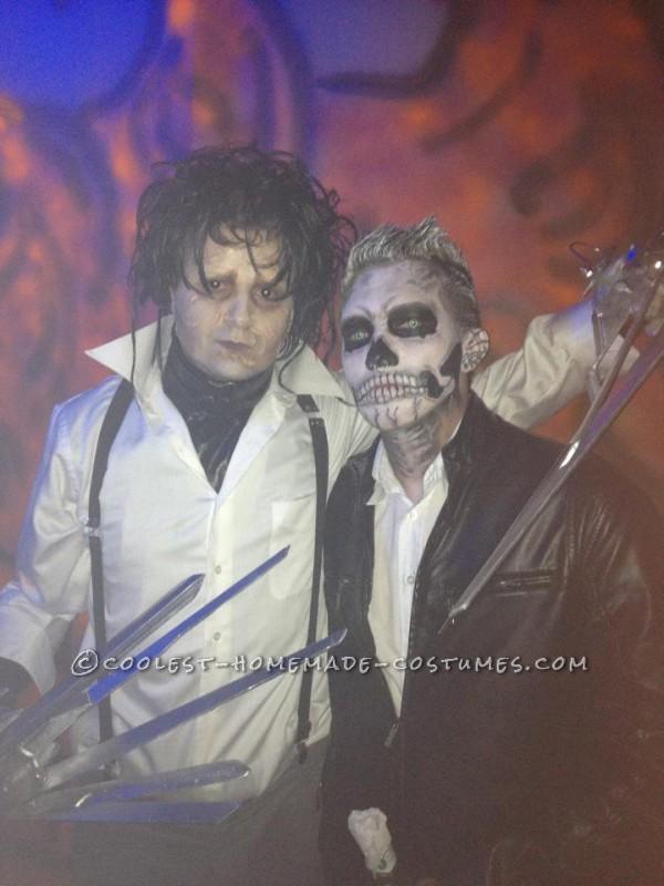 Great Edward Scissorhands Homemade Halloween Costume - 6