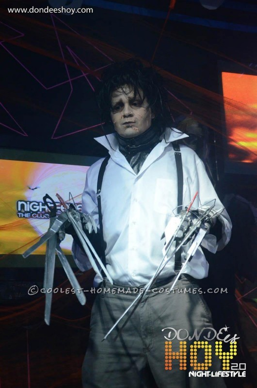 Great Edward Scissorhands Homemade Halloween Costume - 5