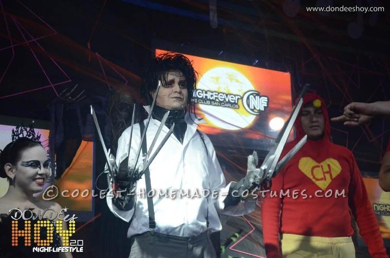 Great Edward Scissorhands Homemade Halloween Costume - 1