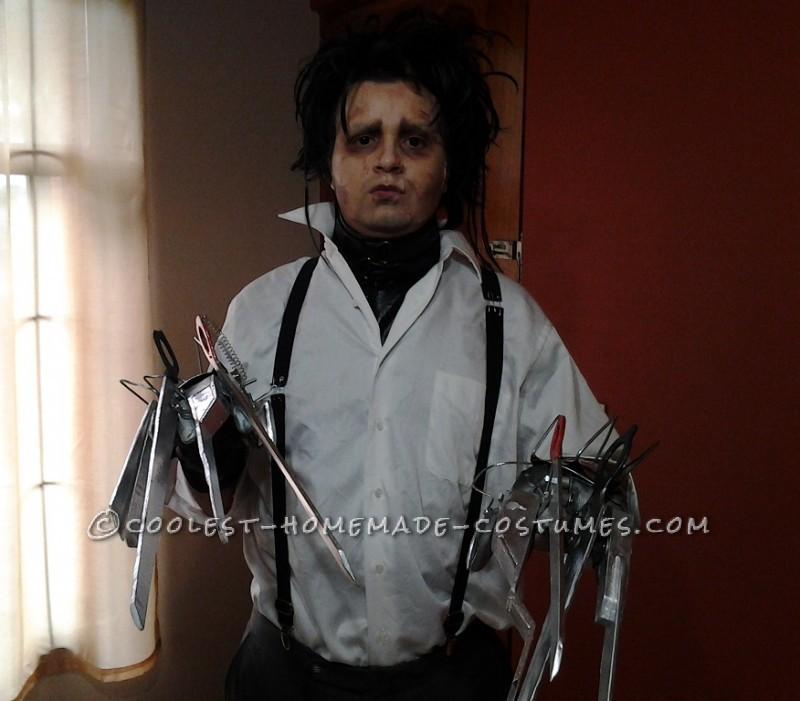 Great Edward Scissorhands Homemade Halloween Costume