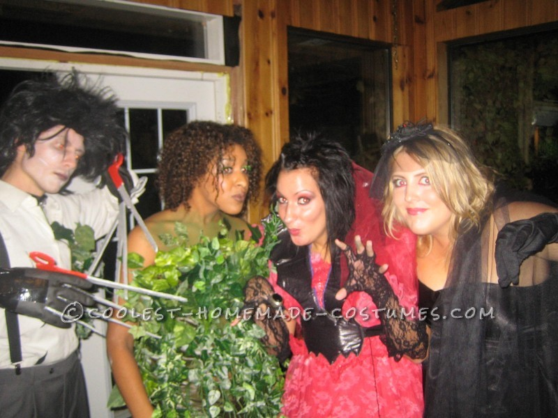 Great Homemade Edward Scissorhands and the Bush Couples Costume - 2