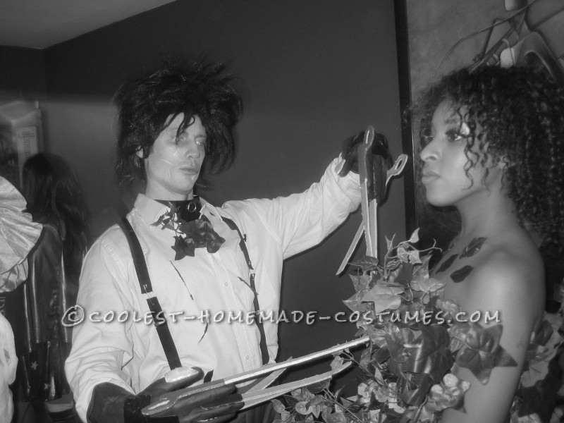 Great Homemade Edward Scissorhands and the Bush Couples Costume - 3