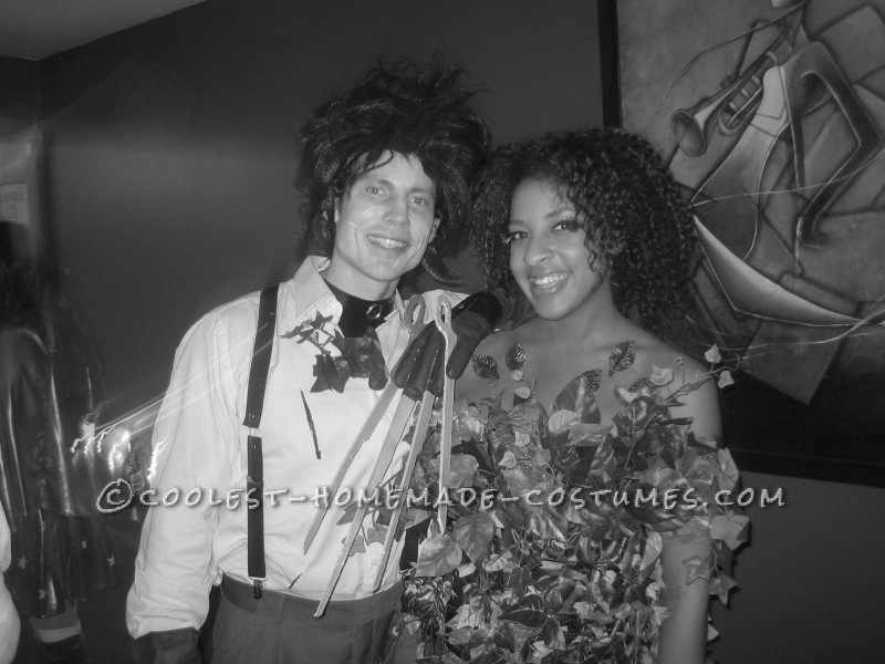Great Homemade Edward Scissorhands and the Bush Couples Costume - 4