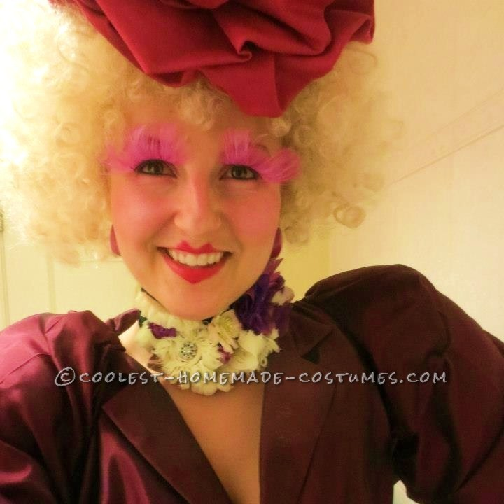 Coolest Effie Trinket from the Hunger Games Homemade Halloween Costume