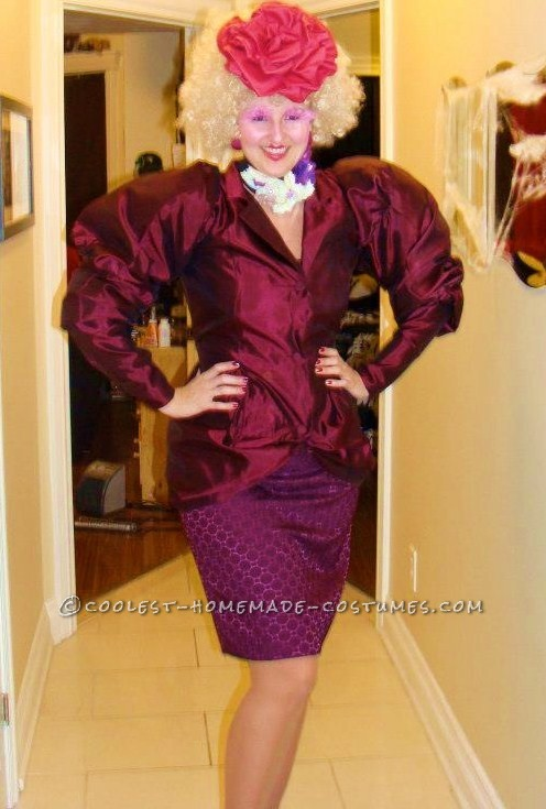 Coolest Effie Trinket from the Hunger Games Homemade Halloween Costume - 1