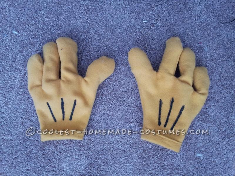 Homemade Roger Rabbit Costume Hands