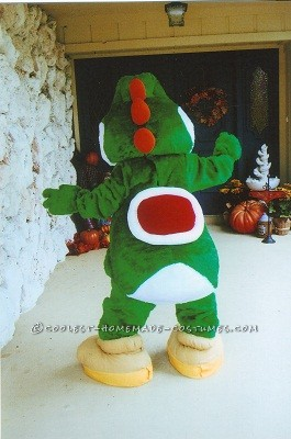 This Yoshi  costume was requested by my daughter and her friends. It is an iconic video game character and most children and young adults can ea