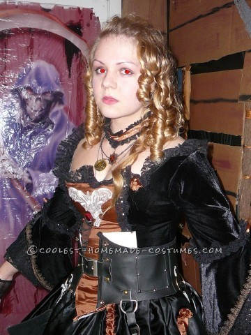I created this costume for Halloween 2011. That year our decoration theme was a wrecked, deserted pirate ship so I needed a coordinating costume. How