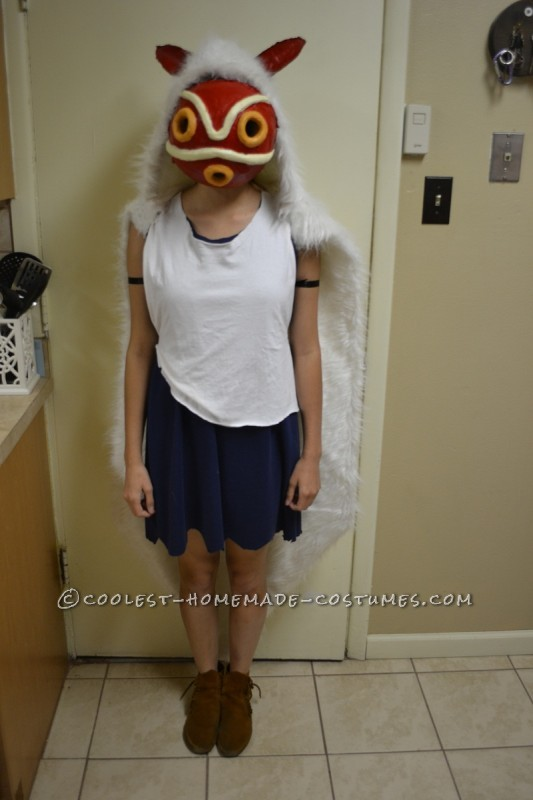 creative princess mononoke homemade costume
