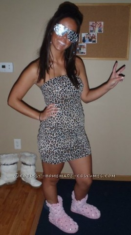 In college my friends always called me Snooks. I was always tan, have dark hair, and wore it big! I found the pink slippers from Wal-Mart, the leopar